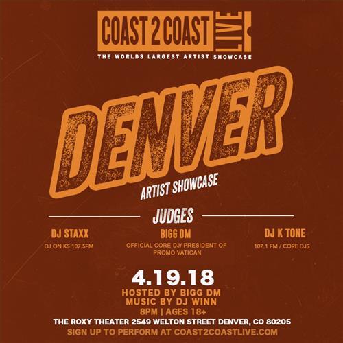Coast 2 Coast Denver Artist Showcase 2018