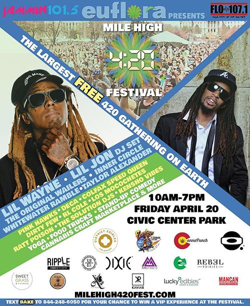 Mile High 420 Festival Denver, CO 2018 with Lil Wayne & Lil Jon