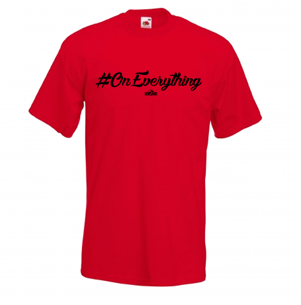 DJ Ktone #OnEverything Red T-Shirt