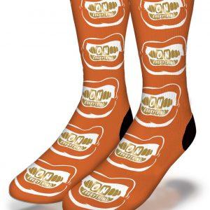 DJ Ktone - On Everything OE Gold Grill on Orange Socks