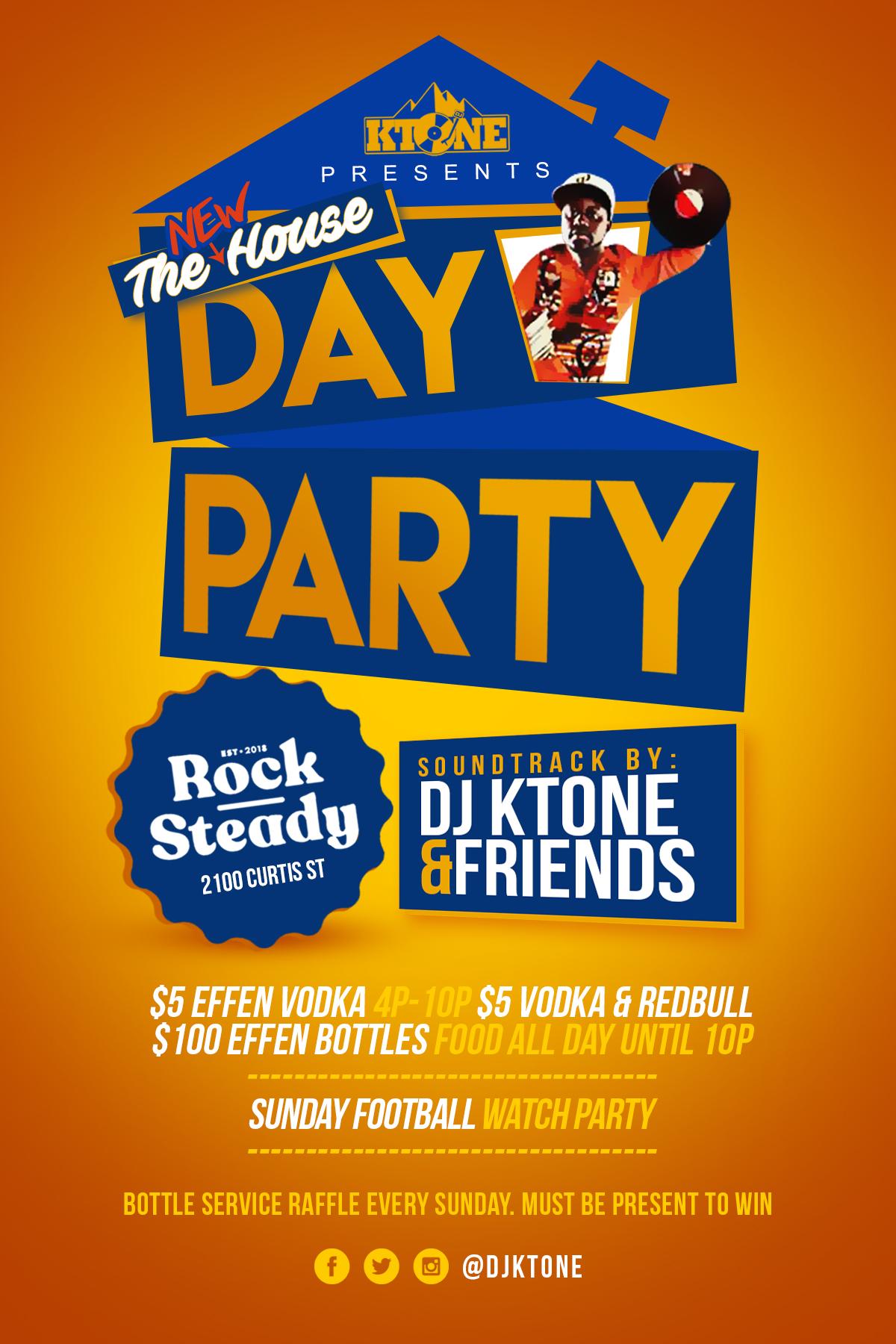 DJ Ktone - Day Party at Rock Steady every Sunday, Denver, Colorado