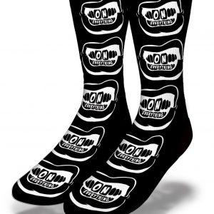 DJ Ktone OE White Grill on Black Socks