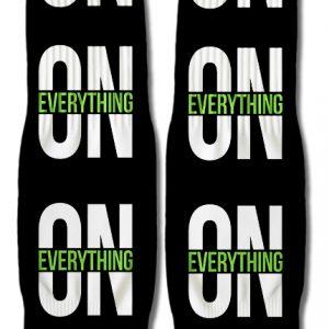 DJ Ktone On Everything Black Socks