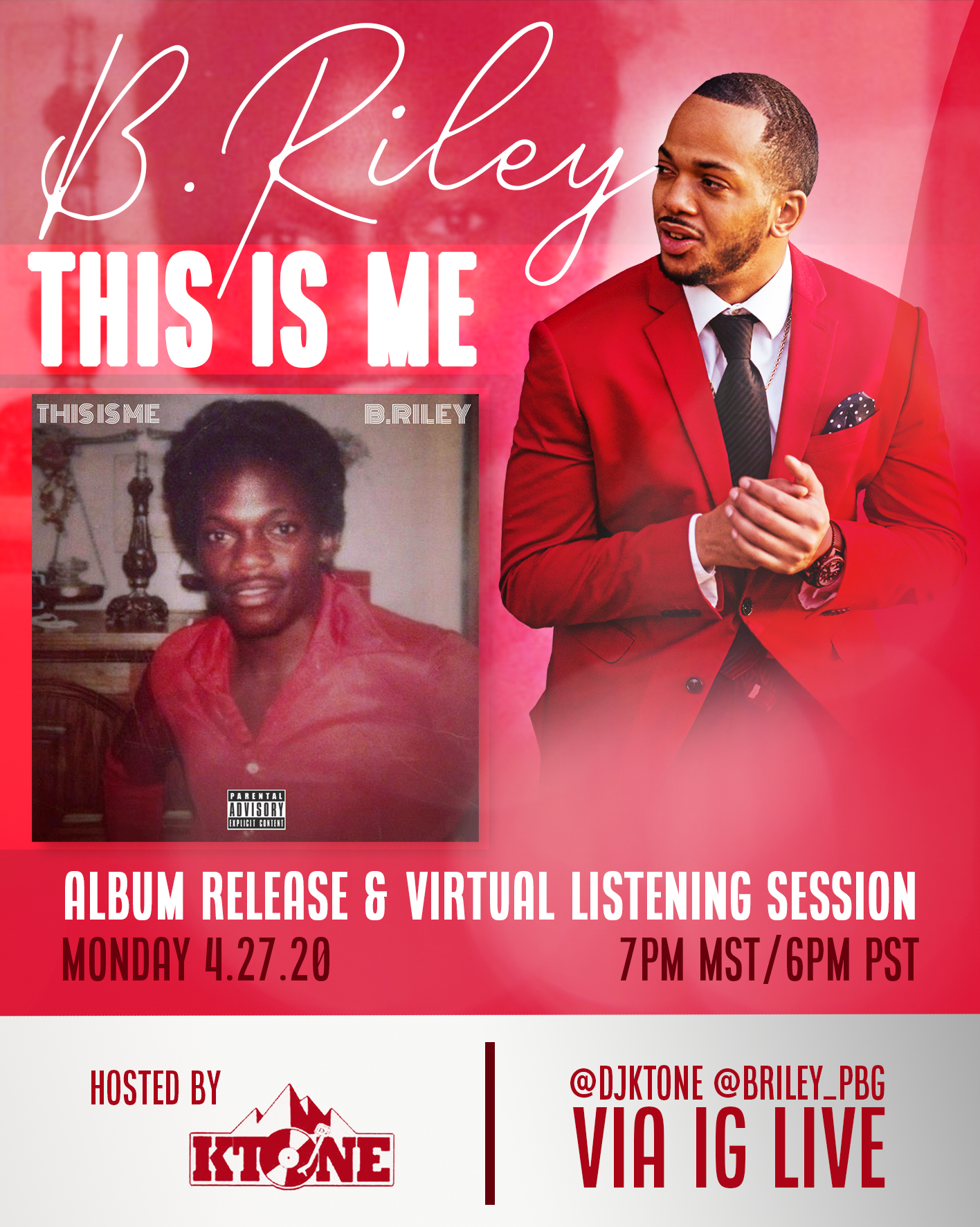 B. Riley Album Release Party & Virtual Listening Party with DJ Ktone 2020