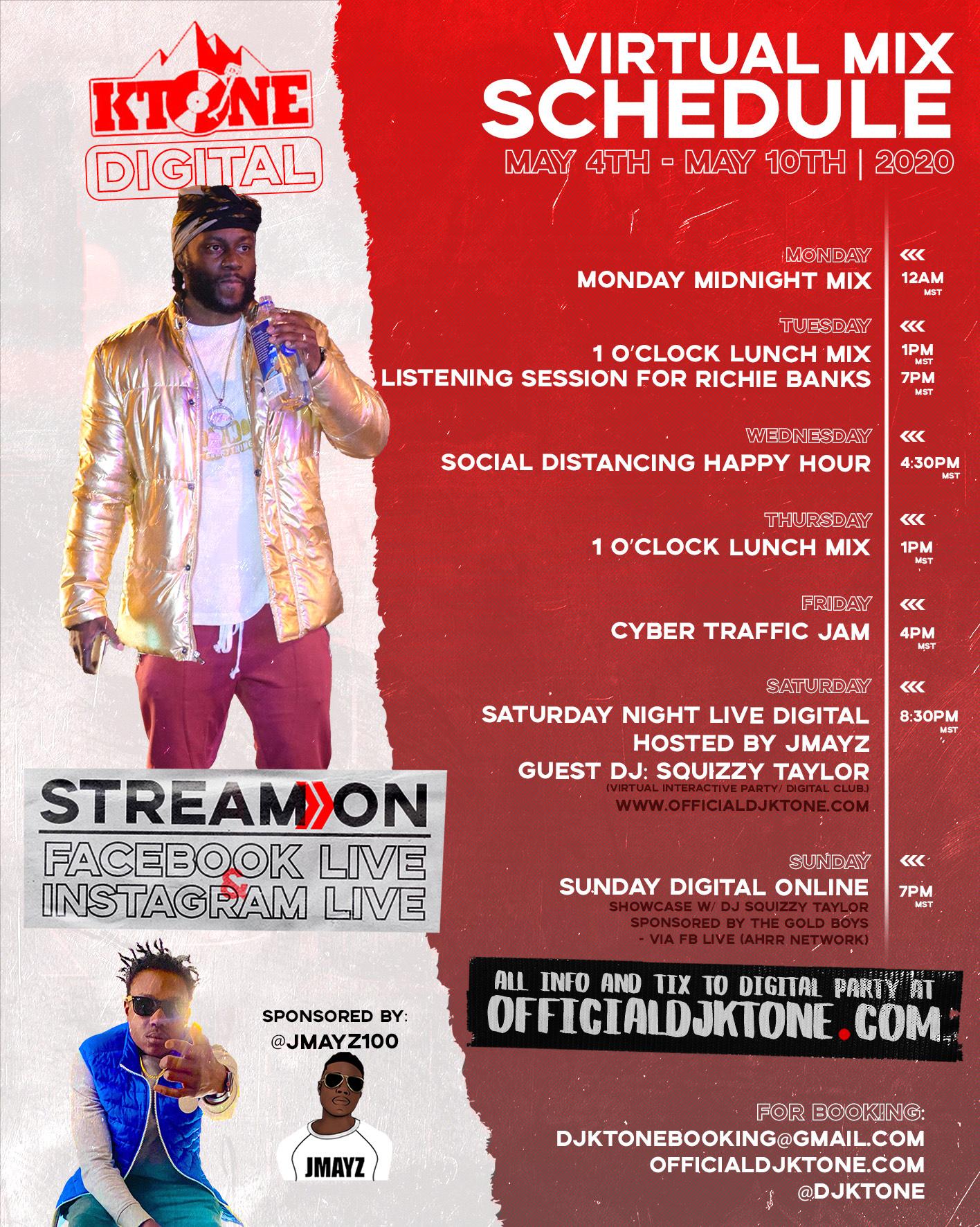 DJ Ktone Virtul Mix May 4-10-2020