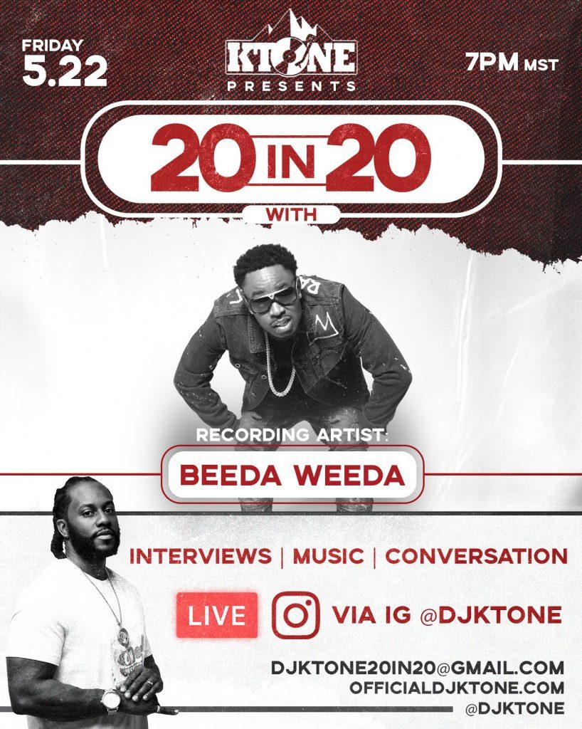 DJ Ktone 20 In 20 with Beeda Weeda Interview