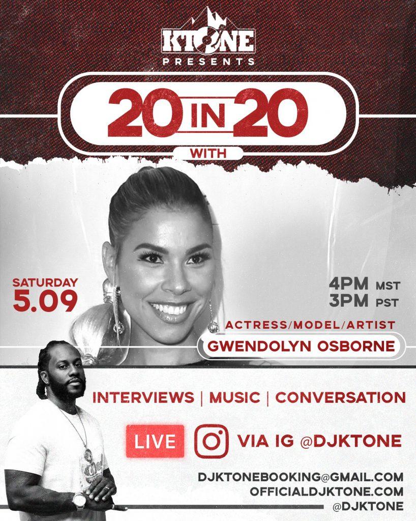 DJ Ktone 20 in 20 with Gwendolyn Osborne