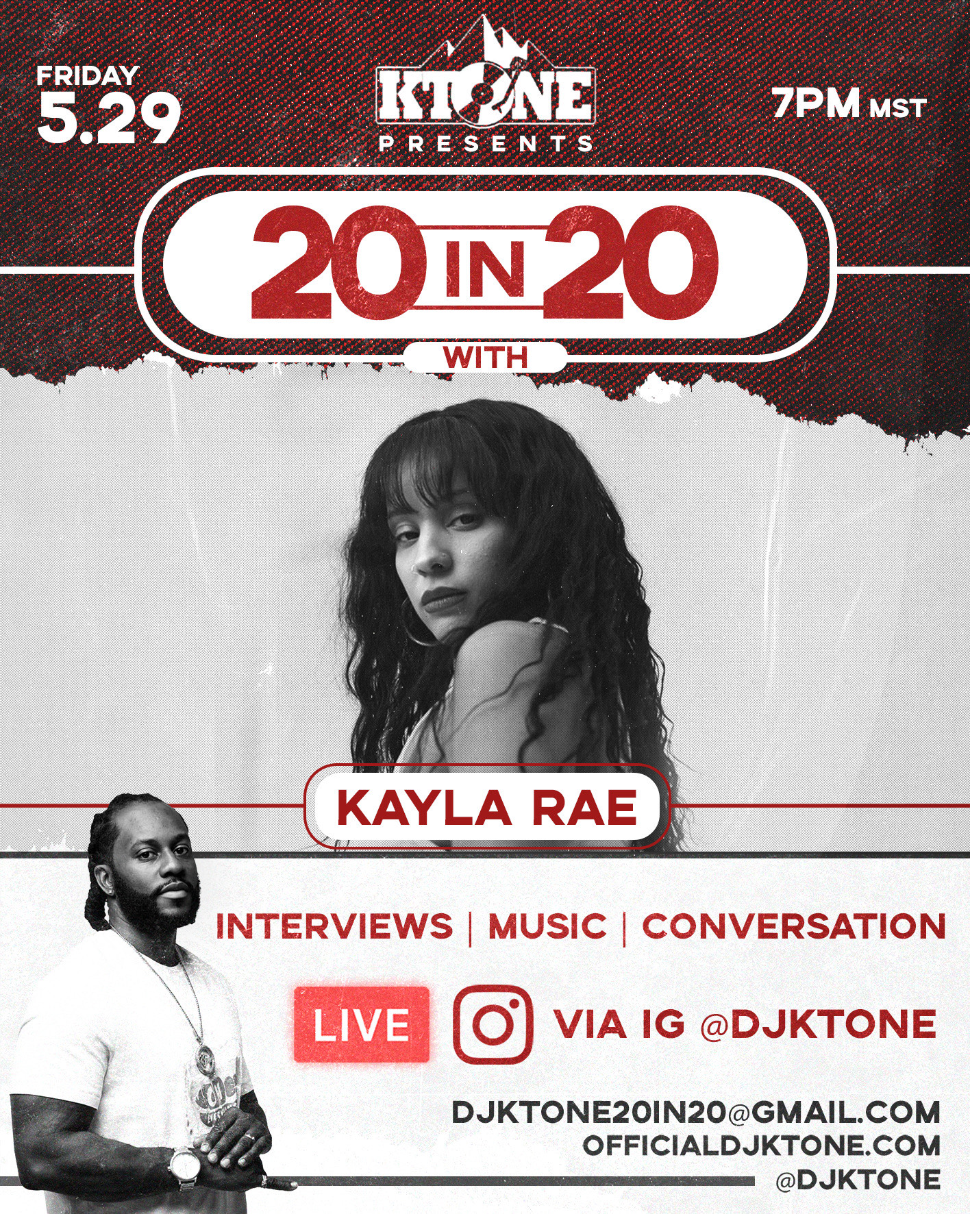 DJ Ktone 20 in 20 with Kayla Rae