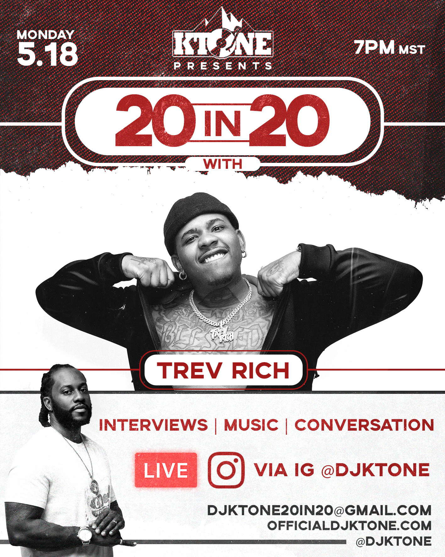 DJ Ktone 20 in 20 with Trev Rich