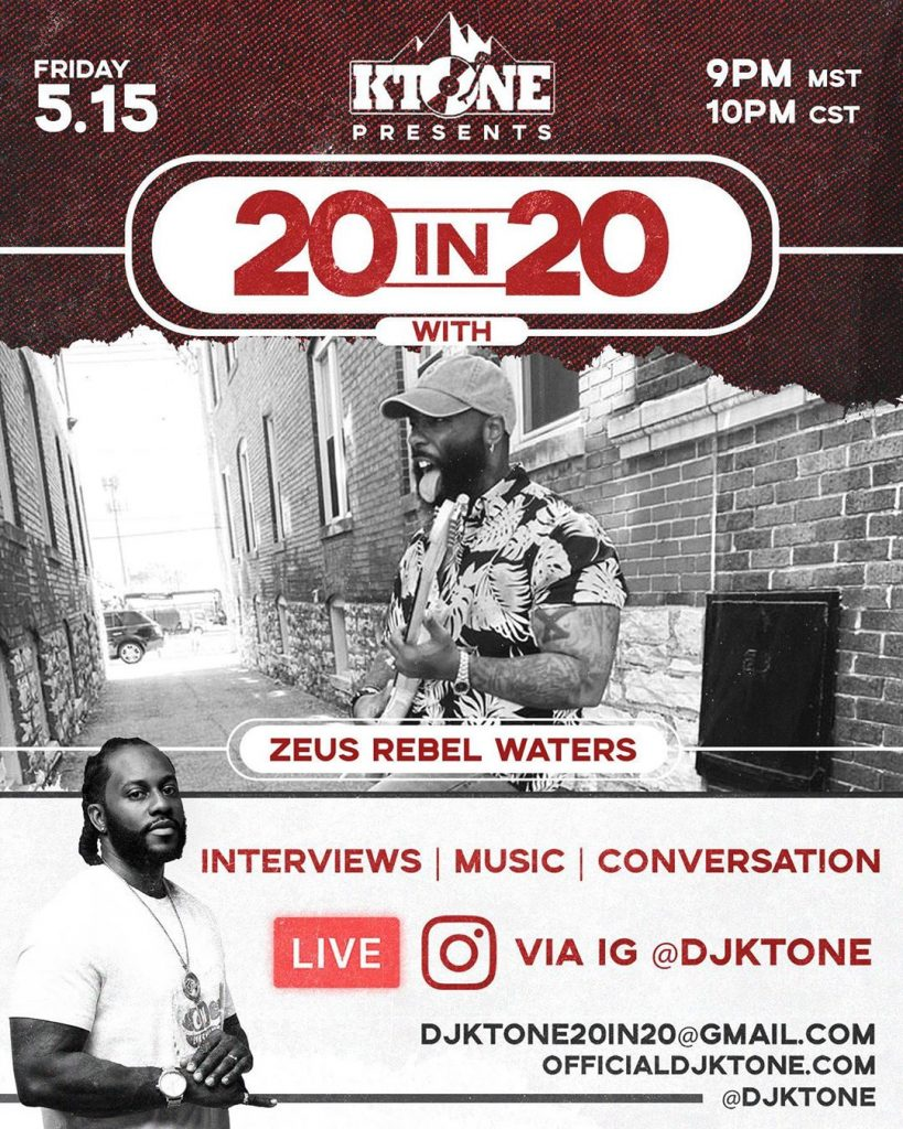 DJ Ktone 20 in 20 with Zeus Rebel Waters