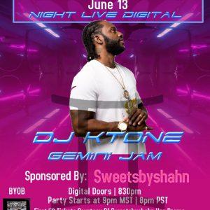 DJ Ktone presents Saturday Night Live Digital June 13 2020 - Digital / Virtual Club