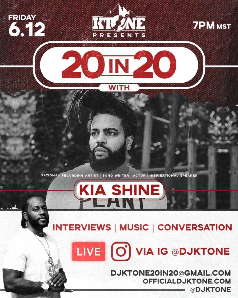 DJ Ktone 20 In 20 with Kia Shine Interview